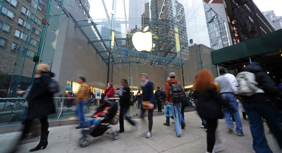 Apple har efterhånden fået alvorlige konkurrenter på tavle-PC-markedet. Markedsandelen på verdensplan er nu nede på lige over 50 procent. Foto: Peter Foley, EPA/Scanpix
