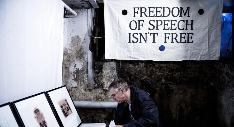 ARKIVFOTO: En 23-årig mand er onsdag blevet dømt for at have fremsat trusler mod Trykkefrihedsselskabet i forbindelse med udstillingen af den kontroversielle, svenske kunstner Dan Parks værker.