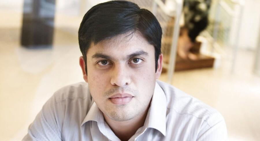 Amit Singh Chuauhan fra Indien blev udstationeret til Danmark ved et tilfælde. Nu har han stiftet familie, fået fast job og bosat sig på Amager. Foto: Liselotte Sabroe