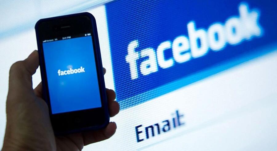 Facebook har lørdag den 18. maj været børsnoteret i et år. Det kniber stadig med at holde selskabets værdi. Arkivfoto: Karen Bleier, AFP/Scanpix