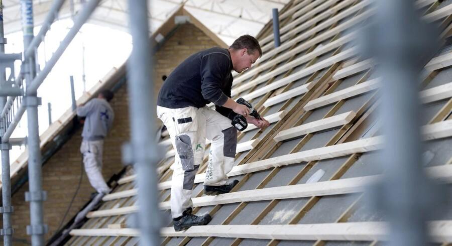 Det påbegyndte boligbyggeri i USA udviklede sig i marts værre end ventet, og antallet af byggetilladelser faldt. Arkivfoto.