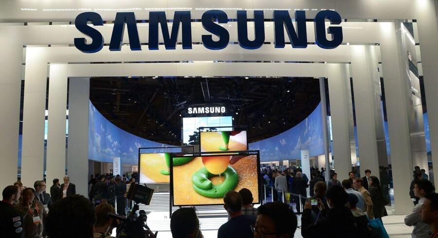 Den amerikanske regering opretholder afgørelsen om at forbyde salget af visse Samsung-mobiltelefoner. Arkivfoto: Joe Klamar, AFP/Scanpix