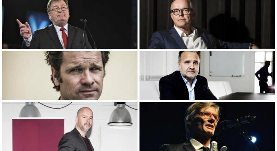Se hvor de seks herrer har placeret sig på listen nedenfor.