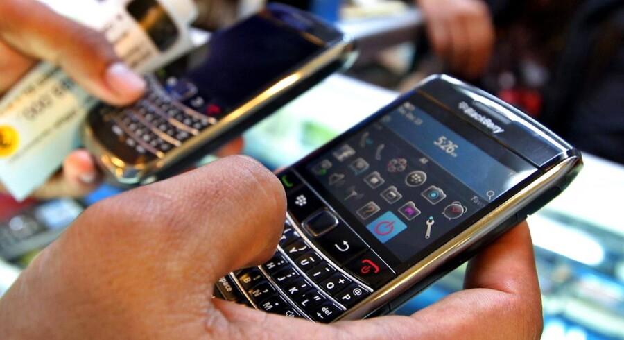Den canadiske mobilproducent Blackberry står til at blive solgt for 4,7 milliarder dollars - langt mindre, end hvad Microsoft betalte for Nokia. Foto: Mast Irham, EPA/Scanpix