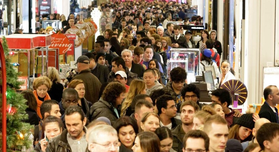 Black Friday i stormagasinet Macys på Herald Square i New York.