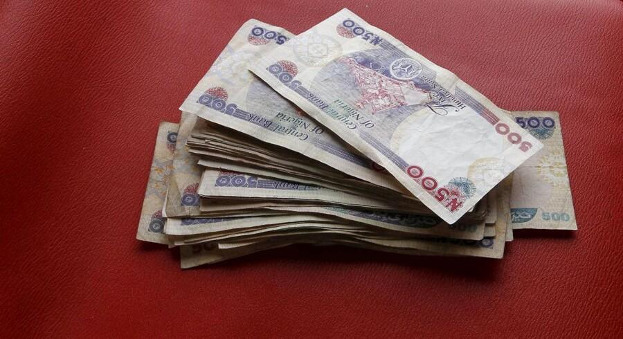 Nigerianske valuta, naira.