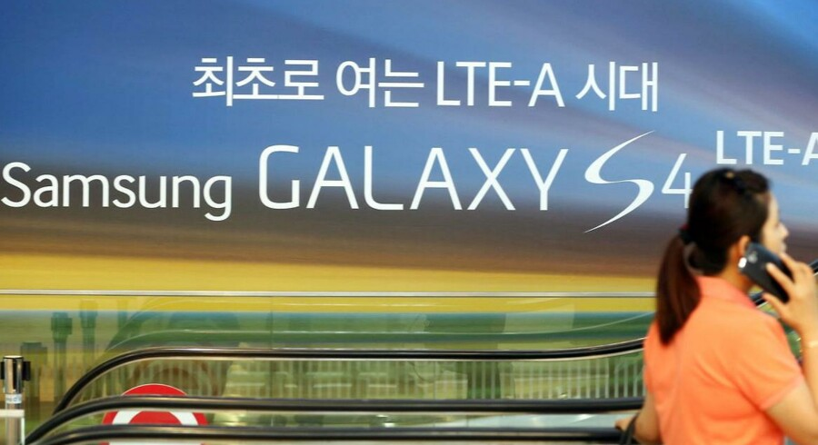 Samsung fremlagde fredag sit største overskud nogen sinde - men det afspejler samtidig, at mobilsalget presses. Foto: EPA/Scanpix