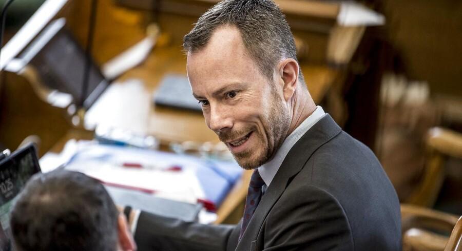 Jakob Ellemann-Jensen (V) under Folketingets afslutningsdebat på Christiansborg i København, onsdag den 30. maj 2018.