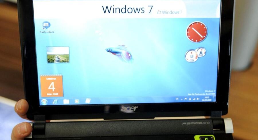 Windows 7 kom også på de ultralette mini-PCer, som var yderst populære, indtil tavle-PCerne kom ned i pris. Foto: Nigel Treblin, AFP/Scanpix