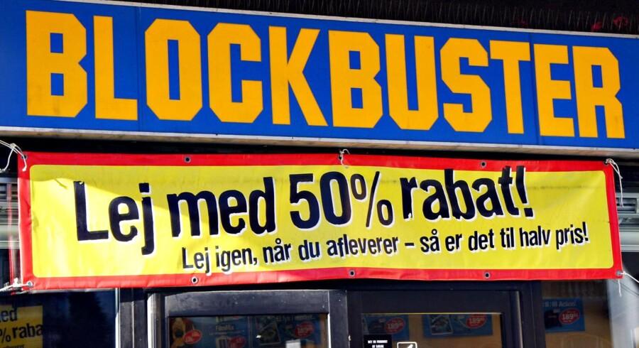 Blockbuster, videobutik på Vesterbro.