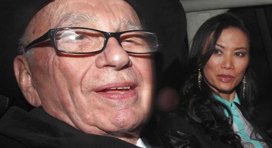 Rupert Murdoch og hans tredje hustru Wendi Deng fotograferet i 2012