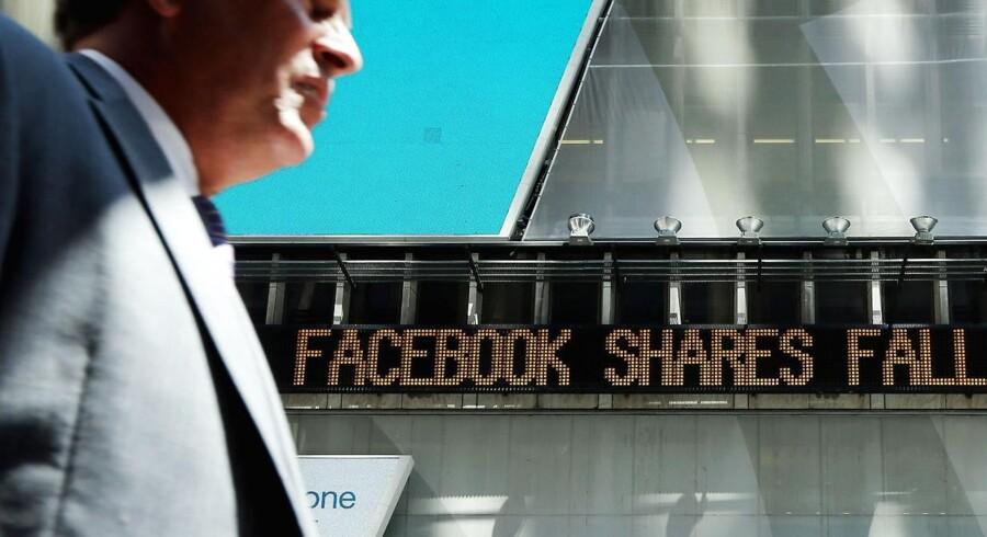 Facebook-aktien kom for første gang under 20 dollars per aktie i går.