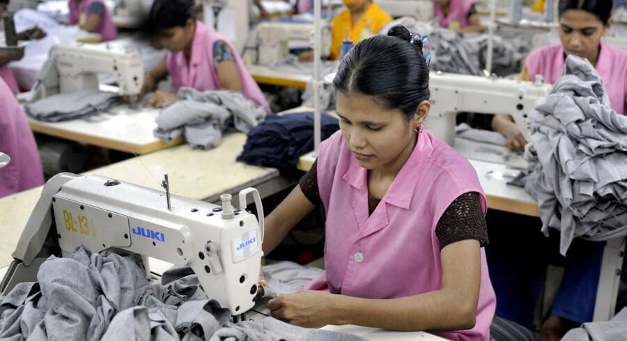 ARKIVFOTO af tilfældig fabrik i Bangladesh.