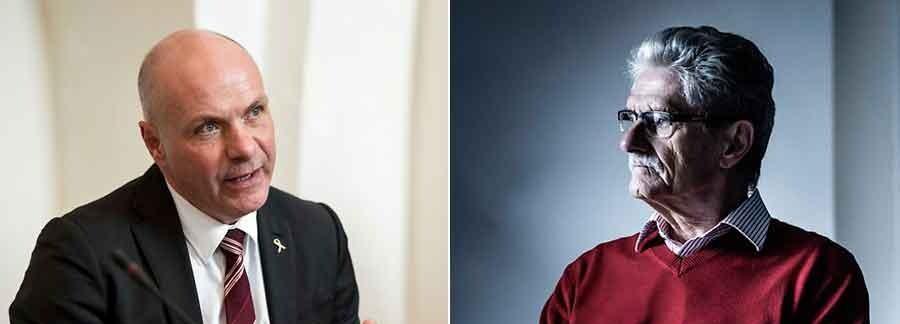 Mogens Lykketoft (th) bør undskylde for sit udfald mod statsminister Lars Løkke Rasmussen, der bliver kaldt en »lille svindler«, mener Venstre-gruppeformand Søren Gade (tv).