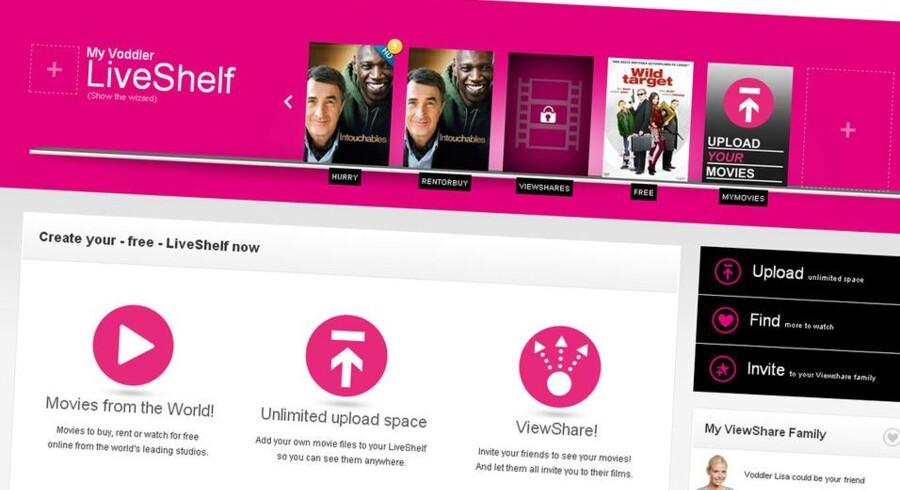 Voddlers nye tjeneste LiveShelf lader dig dele film - også fra iTunes, Amazon samt din personlige DVD-samling.