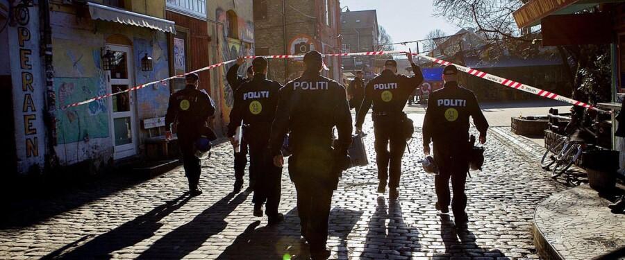 Sidste måned iværksatte politiet den hidtil største aktion mod hashhandlen på Christiania og anholdte 80 personer. Foto: Nils Meilvang