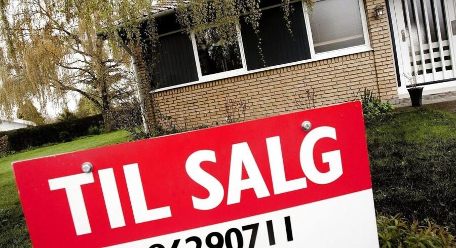 Mens priserne på huse faldt, fortsatte prisfesten for lejligheder. Her steg prisen med 2,2 procent i kvartalet. Arkivfoto.