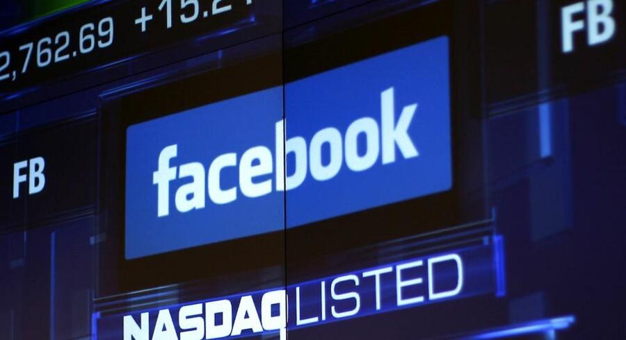Facebook-aktien fortsætter sin nedtur. På tre måneder har Facebook mistet 42 procent af sin værdi. Arkivfoto: Eric Thayer, Reuters/Scanpix