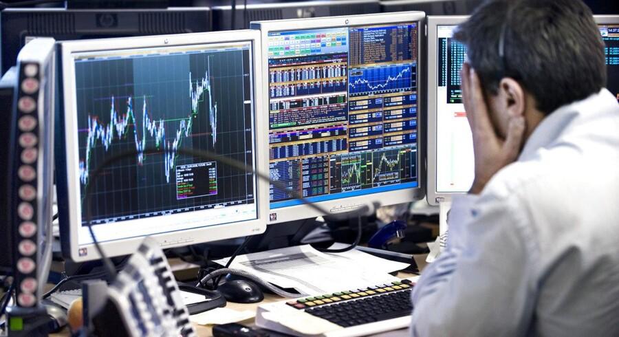 ARKIVFOTO af aktiehandel i Nordea.