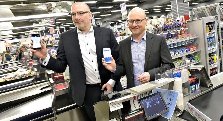 I marts blev sløret løftet for MobilePay-betaling i Dansk Supermarkeds kæder, og nu kan betalingsappen også gemme kvitteringerne for dine indkøb. Arkivfoto
