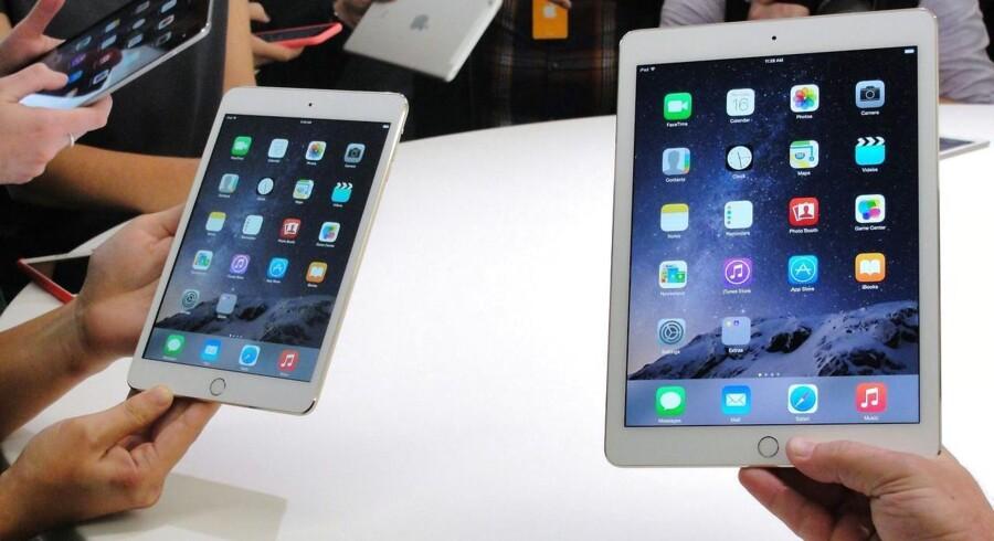 Som ventet kom teknologiselskabet Apple torsdag med nye iPad-modeller - en iPad Air 2 og en iPad mini 3. Klik videre og se flere billeder fra Apples præsentation torsdag.