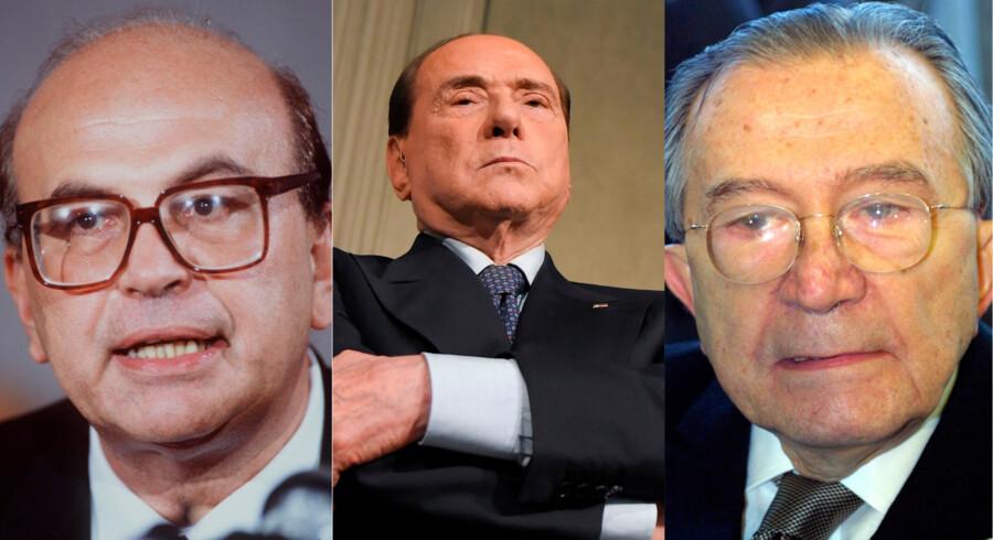 Bettino Craxi, Silvio Berlusconi og Giulio Andreotti