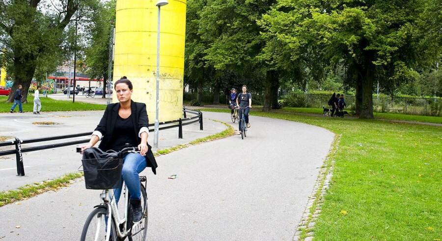 Regeringen har sammen med DF, SF og EL nu afsat penge til blandt andet flere supercykelstier. Her er det cykelstien den grønne kile fra Nørrebro til Frederiksberg.