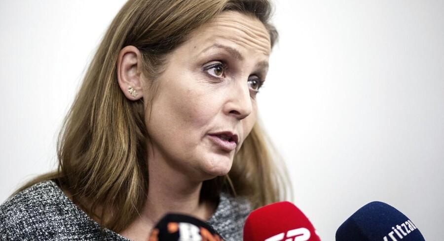 »Vi håber sådan set at kunne lande en model på det i løbet af i dag eller måske i aften,« siger partiformand Pia Olsen Dyhr (SF) inden mandagens forhandlinger.