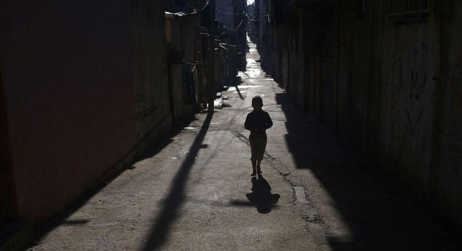 Billede fra al-Shati flygtningelejren i Gaza City.