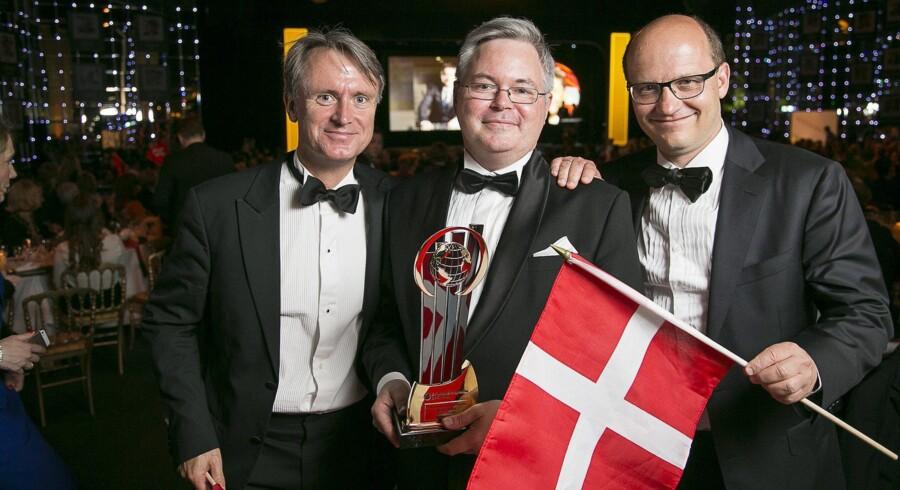 Sitecore-medstifter Lars Nielsen, flankeret af to danske partnere i EY, Jesper Ridder Olsen og Peter Gath.