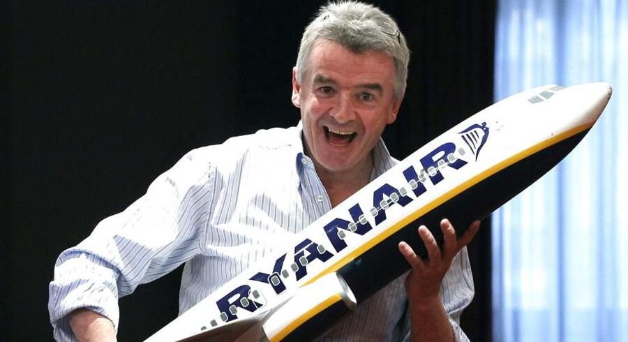 Ryanair hæver forventningerne til årest overskud efter en sommer med dårligt vejr og gunstige valutakurser. Arkivfoto.