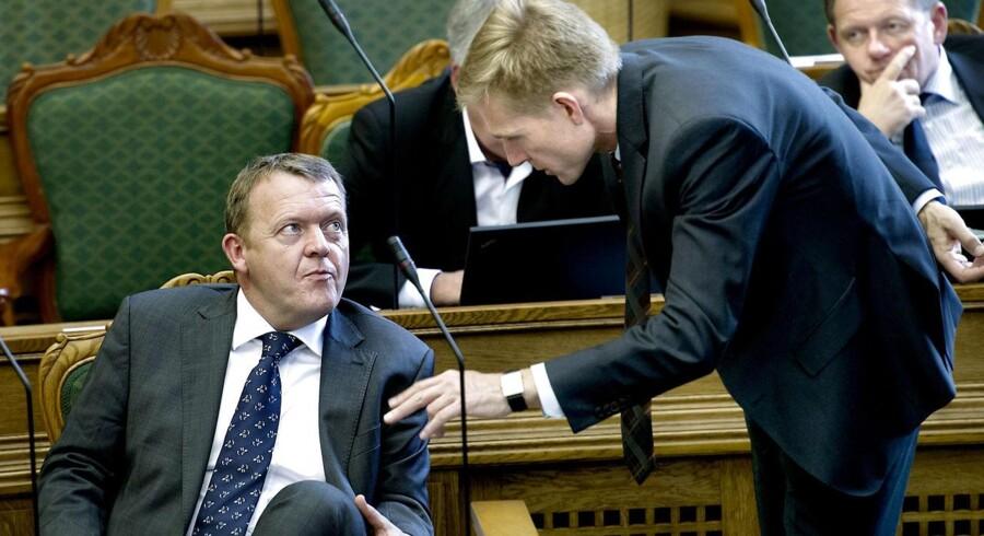 Lars Løkke Rasmussen og Kristian Thulesen Dahl kan få svært ved at finde fælles fodslag både på EU- og velfærdspolitikken.