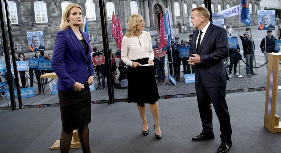 Thorning og Løkke i debat hos TV2
