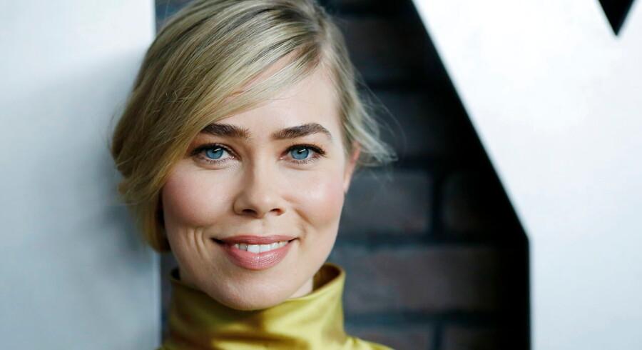 """ARKIVFOTO 2016 af Birgitte Hjort Sørensen- - Se RB 11/4 2016 08.34. Sammen med resten af castet i """"Pitch Perfect 2"""" har skuespillerinden Birgitte Hjort Sørensen vundet en MTV Movie Award. (Foto: EDUARDO MUNOZ/Scanpix 2016)"""