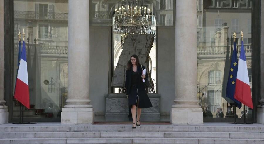 Den franske kulturminister, Aurelie Filippetti, her foran Élysée-præsidentpaladset i Paris, bakker den nye lovgivning op. Arkivfoto: Jacques Demarthon, AFP/Scanpix