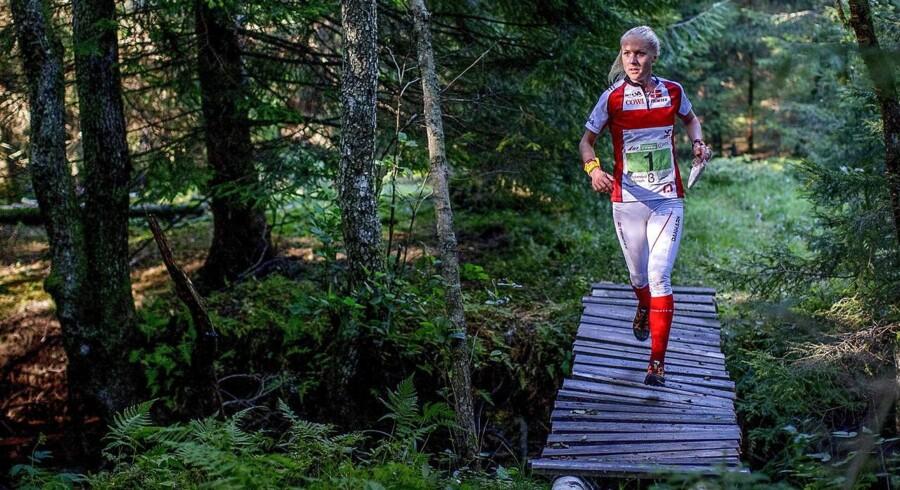 Arkivfoto. Maja Alm tog lørdag sin tredje guldmedalje på stribe ved VM i orienteringsløb i Finland.
