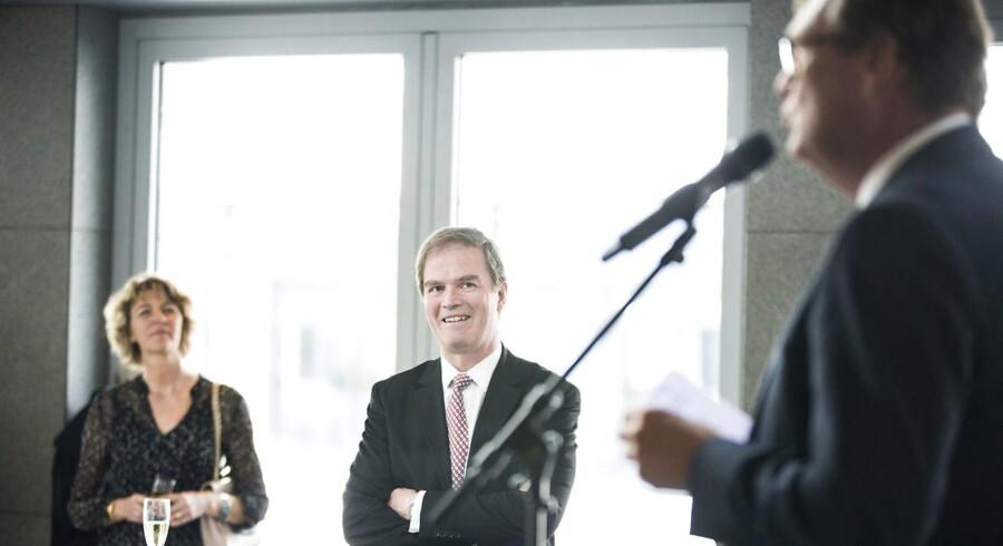 Lars-Erik Brenøes 25 års jubilæum hos A.P. Møller - Mærsk. Michael Pram Rasmussen holder tale for Lars-Erik Brenøe