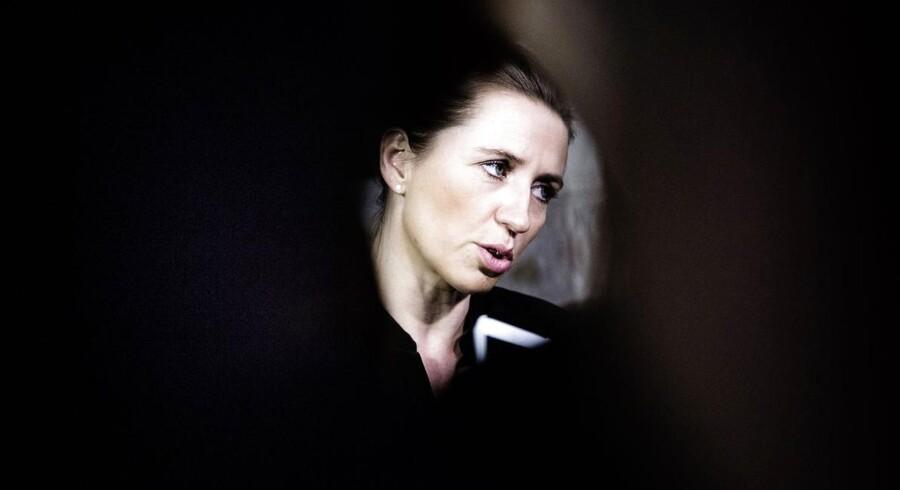 Mette Frederiksen vil ikke uddybe, hvor langt regeringen er med sine planer om overvågning af danskernes færden på internettet. Foto af Thomas Lekfeldt.