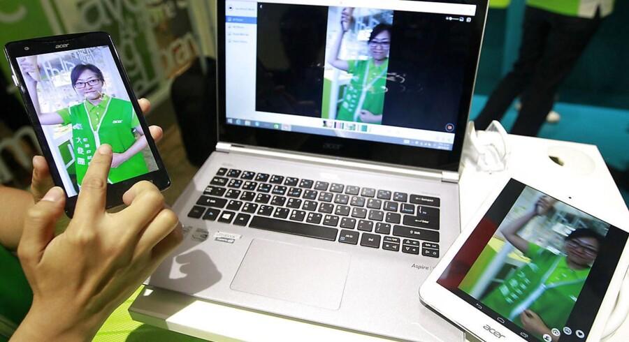 PC-salget går overraskende nok kun beskedent tilbage. Til gengæld har tavle-PC-salget nu toppet, mener de to store analysehuse. Foto: Pichi Chuang, Reuters/Scanpix