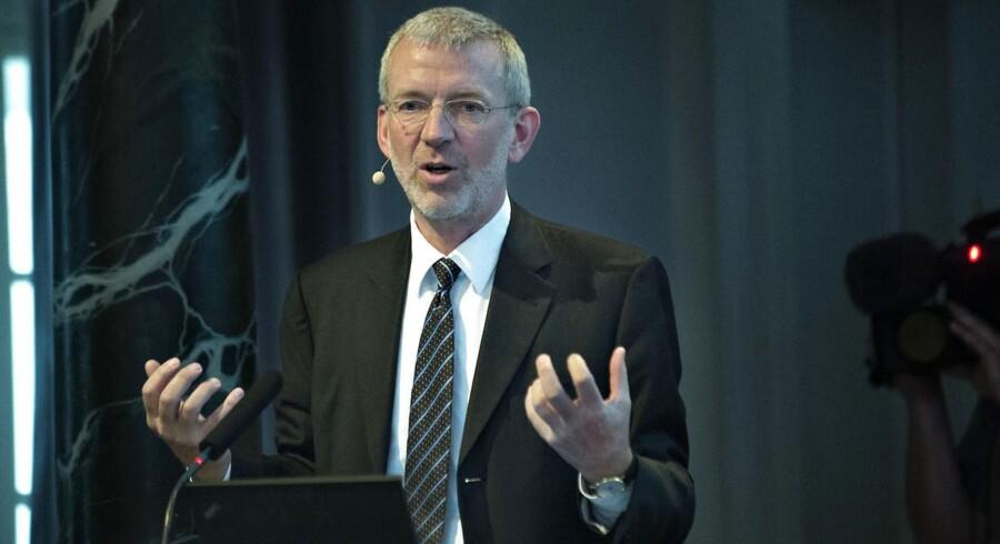 Tidligere topchef i Nordea Peter Schütze, er nu bestyrelsesmedlem i Axcel Future, som kommer med dyster analyse af Thornings jobplan. FOTO: Scanpix.
