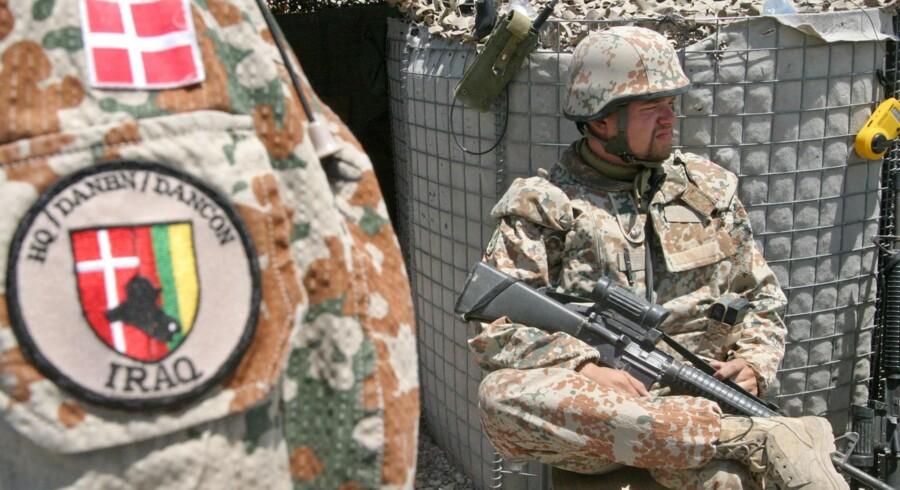 Danske soldater på tjeneste i Irak i august 2004. Arkivfoto: Scanpix