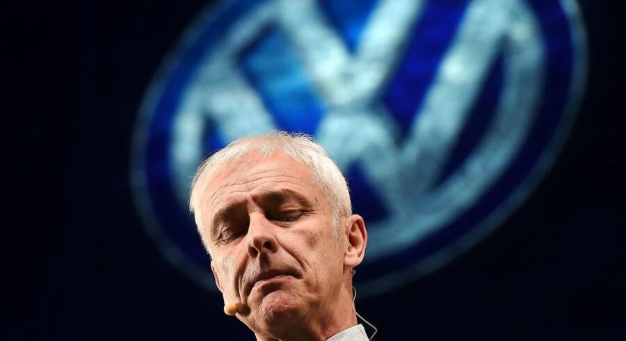 olkswagens markedsandele i Europa dalede i første kvartal med 23,4 pct. og nåede dermed det laveste niveau for et første kvartal i fire år. (AFP PHOTO / JEWEL SAMAD)
