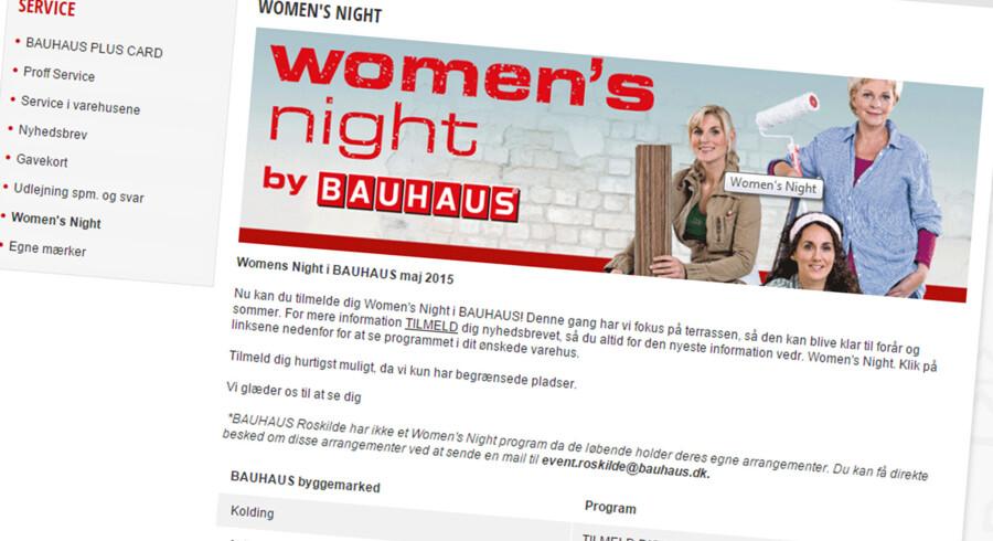 Bauhaus holder Women't Night til maj igen. Mænd er også velkomne.