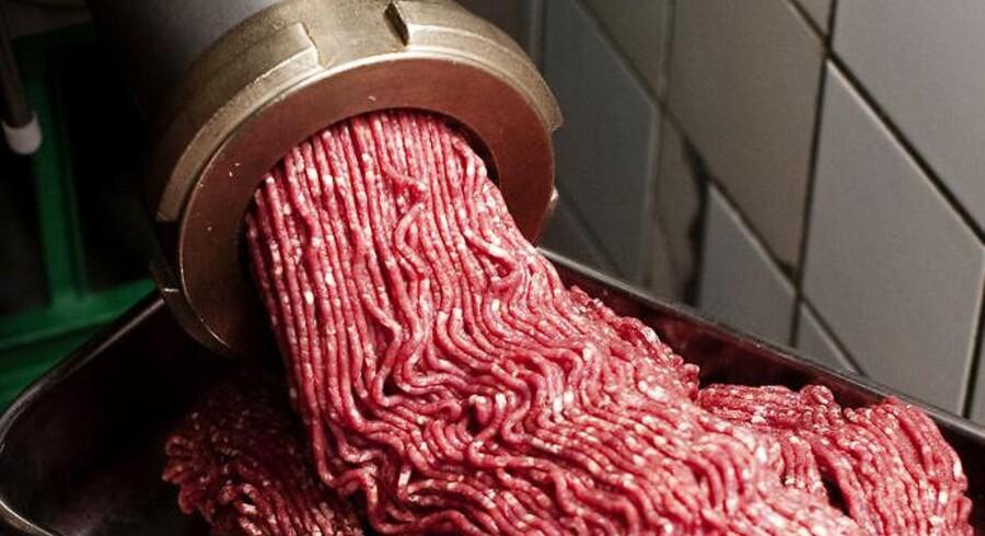 Hakket oksekød.
