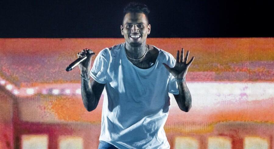 Den Amerikanske hiphop R&B og soulsanger Chris Brown på scenen i Forum søndag 5. juni 2016