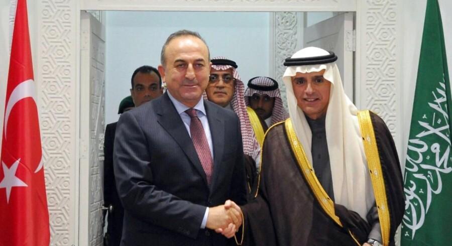 Adel al-Jubeir og Mevlut Cavusoglu.