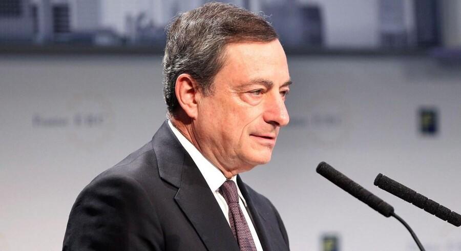 Aktiemarkederne har store forventninger til Mario Draghi, der de seneste år har haft for vane at overraske positivt. Arkivfoto.