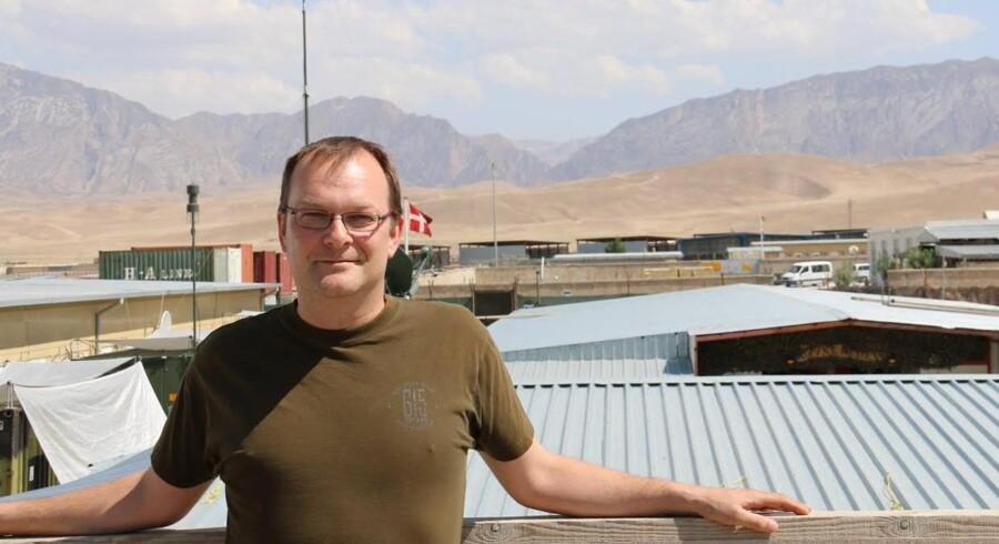39-årige Martin Lange Andersen skal overbevise de vestjyske vælgere om at sætte kryds ved ham, selvom han befinder sig omkring 5.000 km væk. DF'eren er nemlig udstationeret i Afghanistan.