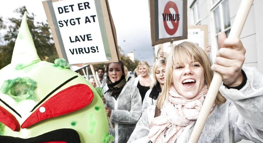 Antivirusdemonstration i København.