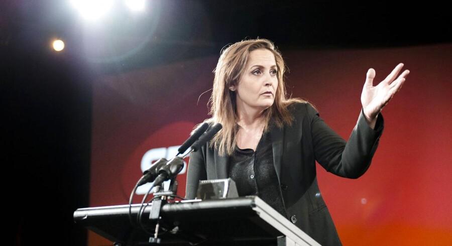 Pia Olsen Dyhr under sin åbningstale ved SFs landsmøde denne weekend.